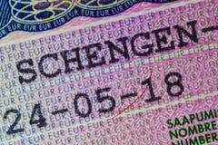 Suomi schengen visum 2018 royaltyfria bilder