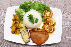 Suon do tam do arroz fritado ou da COM do vietnamita fotos de stock royalty free