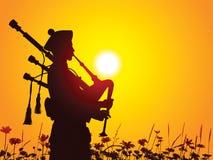 Suonatore di cornamusa Immagini Stock Libere da Diritti