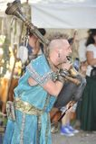 Suonatore di cornamusa al festival medievale, Norimberga 2013 Fotografia Stock