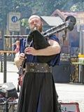 Suonatore di cornamusa dei bardi della Boemia Fotografia Stock Libera da Diritti