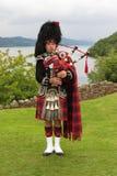 Suonatore di cornamusa scozzese Immagini Stock Libere da Diritti