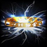 Suoni con i segni dello zodiaco un fulmine istantaneo nello spazio Fotografia Stock