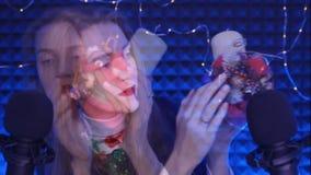 Suoni della bocca di ASMR Candela della cera video d archivio