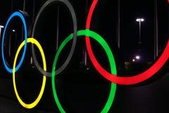 Suoni un simbolo dei concorsi di sport dei giochi olimpici Soci 01 03 18 immagine stock libera da diritti