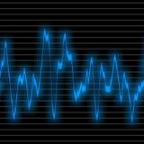 Suono blu dell'onda illustrazione di stock