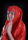 Suora rossa Fotografie Stock Libere da Diritti