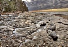 Supérieur de lac Michigan nordique photos stock
