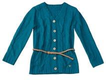 Supérieur femelle tricoté d'adolescent d'isolement sur le blanc Image libre de droits