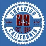 Supérieur la Californie de conception Image libre de droits
