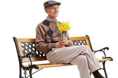 Supérieur romantique attendant sa date Photo stock