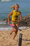 SUP Flag. Event:  C4 Waterman Go Pro SUP, 2011 Duke Kahanamoku Ocean Fest Royalty Free Stock Photos