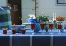 7 sup på tabellen Fotografering för Bildbyråer