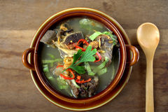 Sup Tulang. Is the Malaysian version of bone broths. It is a traditional recipe, a humble but nutritious broth eaten for generations as comfort food. garnish royalty free stock images