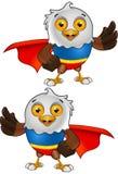 Super Łysego orła charakter - 3 Zdjęcia Royalty Free