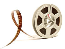 Super 8 color film reel. Super 8 mm color motion picture film reel Royalty Free Stock Photography