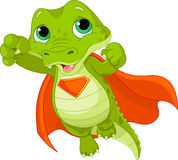 Super Alligator. Illustration of Super Hero Alligator Royalty Free Stock Images