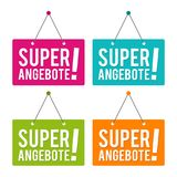 Super Angebote - Türschild - Eps10 Vektor. Super Angebote - Türschild - Eps10 Vektor illustration Stock Photos