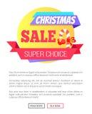 Super auserlesene Weihnachtsverkaufs-Karte mit Lutscher stock abbildung