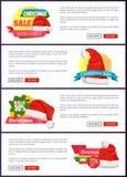 Super auserlesene Weihnachtsverkaufs-Netz-Fahnen-Knöpfe stock abbildung
