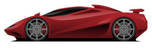 Super Auto Vectorillustratie Stock Fotografie