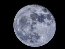 Super błękitnej księżyc widok od Bucharest Fotografia Stock