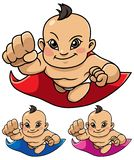 Super Baby Asian stock illustration