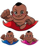 Super Baby Black royalty free illustration