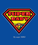 Super Baby card Royalty Free Stock Photography