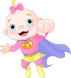 Super Baby Girl Royalty Free Stock Photo