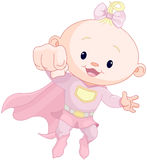 Super baby girl. Illustration of very cute super baby girl Stock Photo
