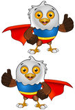 Super Bald Eagle Character - 2 Royalty Free Stock Images