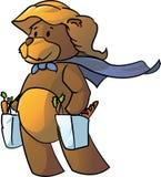Super Bear Mom. Vector illustration of a super bear mom shopping Royalty Free Stock Photo