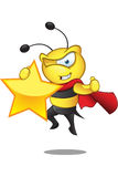 Super Bee - Holding A Star Royalty Free Stock Photography