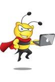 Super Bee - Laptop stock illustration