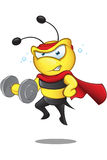 Super Bee - Weight Lifting Stock Images