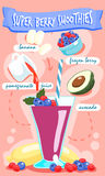 Super bes smoothie met avocado stock illustratie