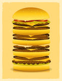 Super Big Burger Stock Photos