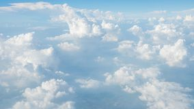 Super big clouds on sky. Super big fluffy clouds on sky in nature Royalty Free Stock Images