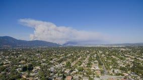 Super big fire happen around San Gabriel Mountains, Los Angeles, Stock Image