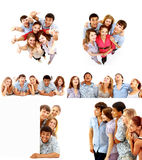 Super big group young people Royalty Free Stock Photos