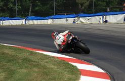 Super bike racing. Geoff May races the 175hp EBR Super bike for the Amsoil Racing Team Stock Photography
