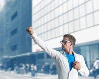 Super biznesmena bohater obrazy royalty free