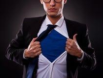 Super biznesowy mężczyzna widok Obrazy Stock