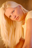 Super blond hair Stock Images