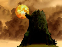 Super blood moon death tree heap dark cloud, Elements of this im Stock Photos