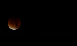 Super blood moon on 28th september year 2015 Stock Images