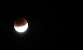 Super blood moon on 28th september year 2015 Stock Photography