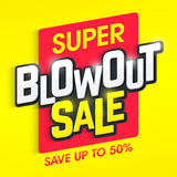 Super Blowout Sale banner Royalty Free Stock Images