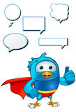 Super Blue Bird - Giving A Thumbs Up Stock Photo